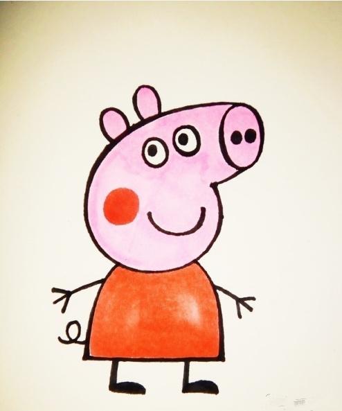 1,第一步,先从简单的猪鼻子画起,一个椭圆加上两点